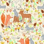 AE Nathan Comfy Flannel  Multi Forest Animals N0985-44