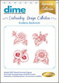 Machine Embroidery 09 Endless Redwork