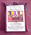 Fast and Easy Burgundy Mesh Bag Kit MBK-313 `