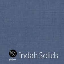 Hoffman Fabrics Indah Solids Batik 100-D7-Dusty-Blue `
