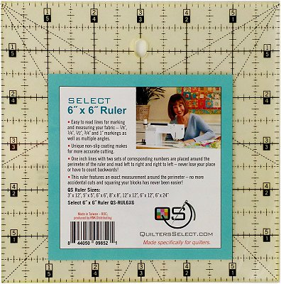 Quilters Select Rulers - 6 x 6