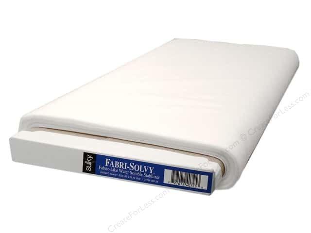 Sulky Fabric-Solvy Stabilizer - White 407-25 `