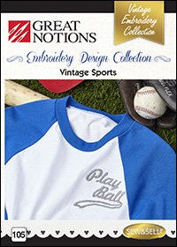 Machine Embroidery 105 Vintage Sports