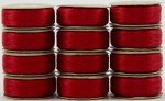 SuperBobs 627 Bright Red M Style 60 Wt Pre-wound Superior Threads