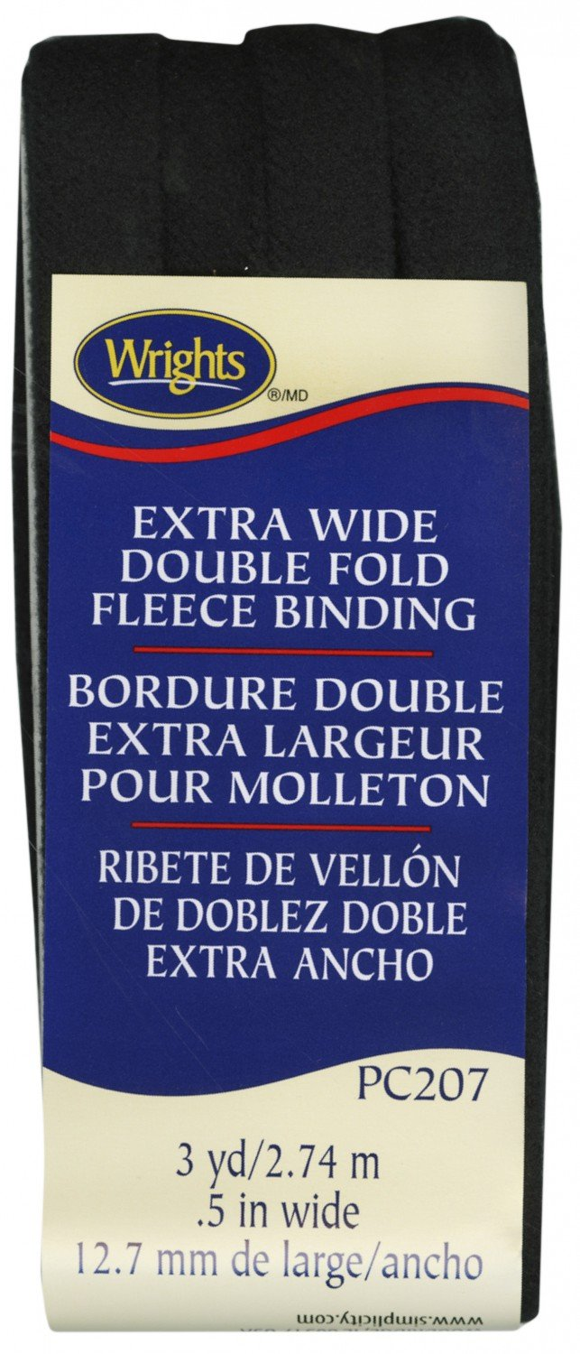 Extra Wide Double Fold Fleece Binding Black PC207 `
