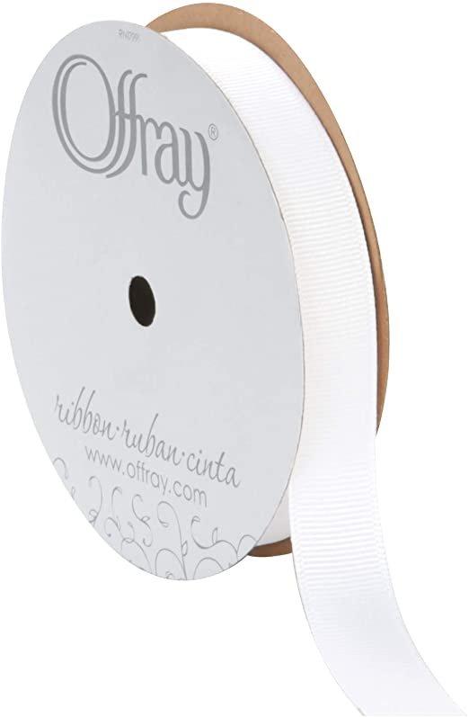 Grosgrain Ribbon 5/8 White 3012-3-29 '