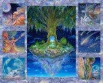 3 Wishes Celestial Journey Tree Panel 17130-MLT