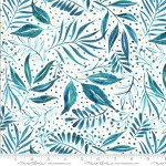 Moda Moody Bloom 8445-14D Digital Teal Floral