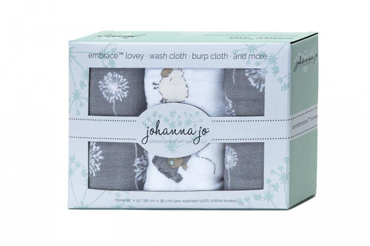 Shannon Johanna Jo Embrace Lovey 3 Pack  Lambi `