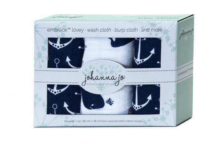 Shannon  Johanna Jo Embrace Lovey 3 pack Whales `