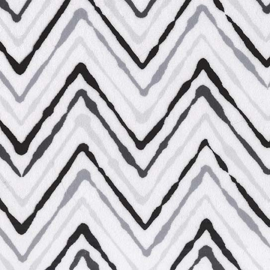 Michael Miller Minky Chevron Ikat-Geo Group Black and White SMZ8000-BLAC-D '