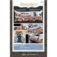 Kimberbell Welcome Autumn Bench Pillow Pattern KD183