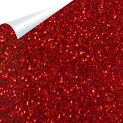 Heat Transfer Vinyl Glitter Flake Red 12 x20 `