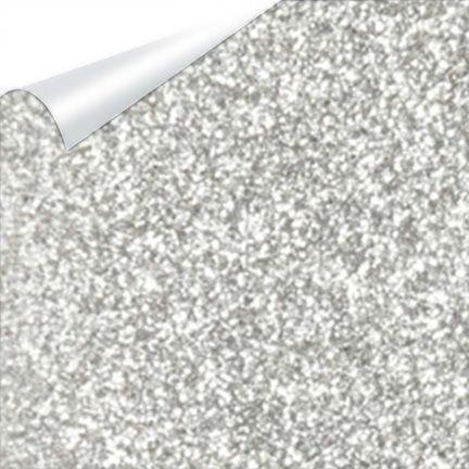 Heat Transfer Vinyl Glitter Flake Silver 12' x 20..