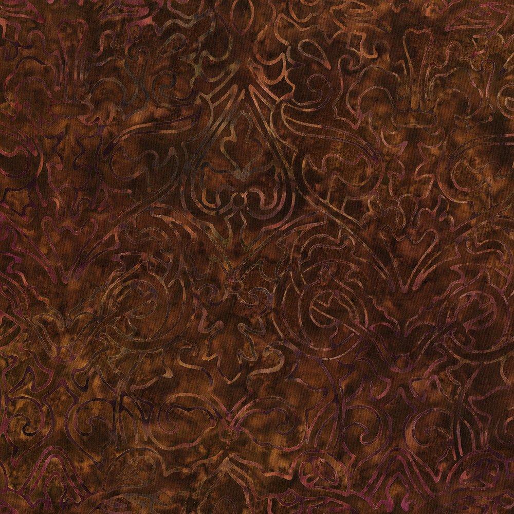 Jinny Beyer 3283-004 RJR Batik Malam Dahlia Mocha  `