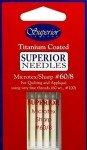 Superior Microtex Titanium Coated 132-60-8 Topstitch Needles Size 60/8 5ct `