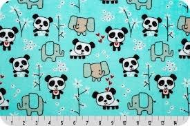 Shannon Fabrics Pandas Cuddle Minky Aruba PANDAS `