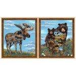 Quilting Treasures Artworks XX MOOSE & BEAR PANEL 26986-X `