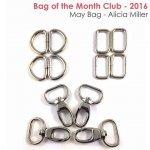 Brooklyn Bag - Nickel hardware kit`