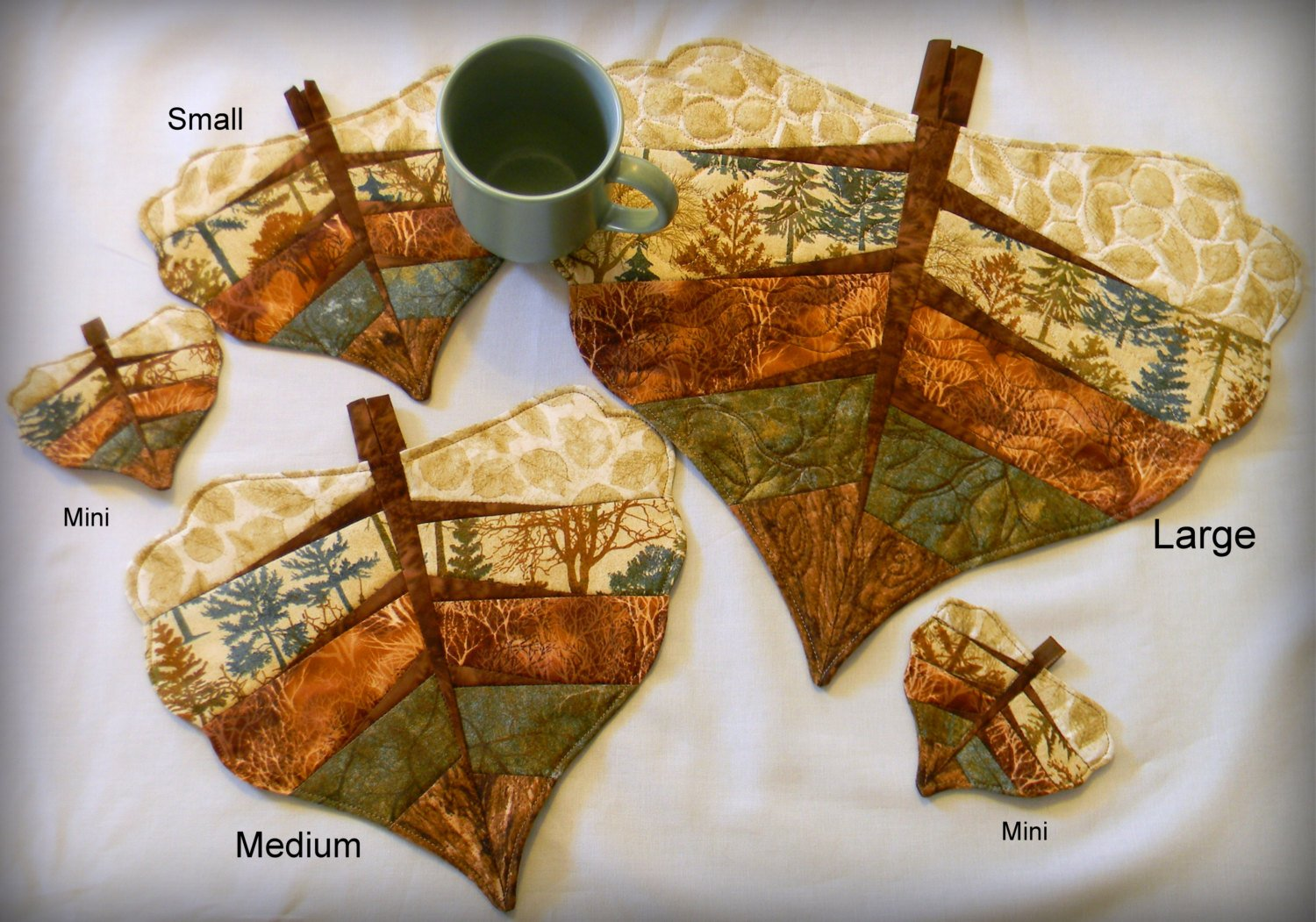Cottonwood Leaves Paper-Pieced Pattern DTD1758 `