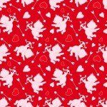 Henry Glass Love Struck Cupids Red Fabric `