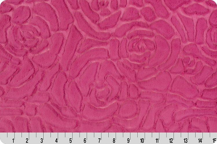 Shannon Fabrics Minky Luxe Cuddle Demi Rose Carnation lcdemirosecarnation `