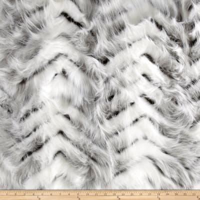 Swiss Faux Fox Fur Cream/Gray `