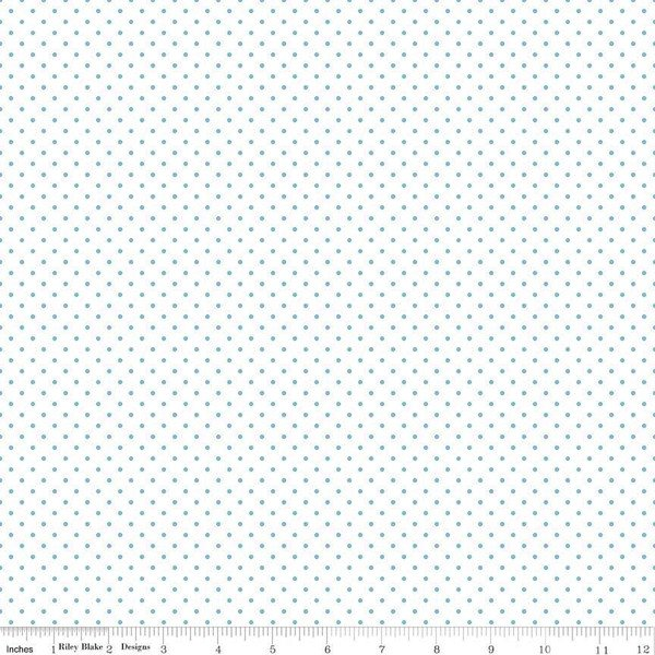 Swiss Dot on White Gray `