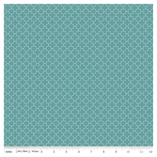 Quatrefoil Mini Color Aqua `