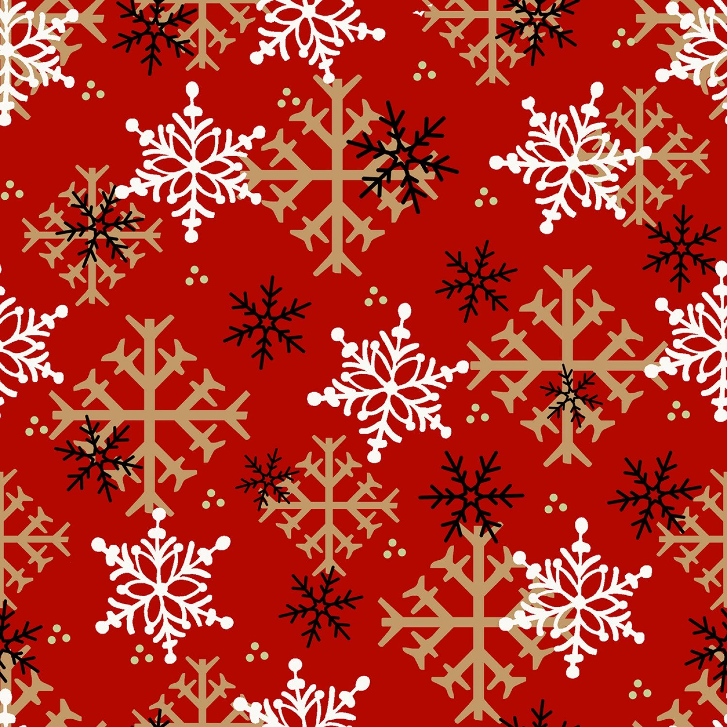 Henry Glass Gnomes Red Snowflake Flannel F9268-88 PREORDER  +