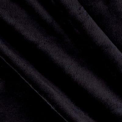 Shannon Cuddle Plush Suede Black Minky '