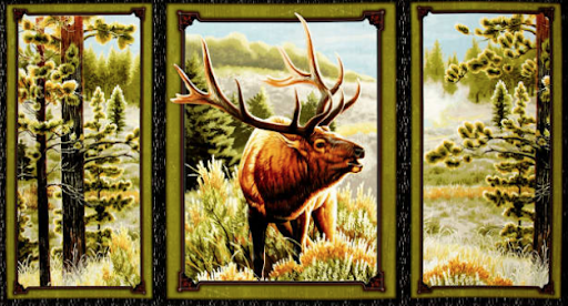 Quilting Treasures Mountain Elk Panel 591726  `