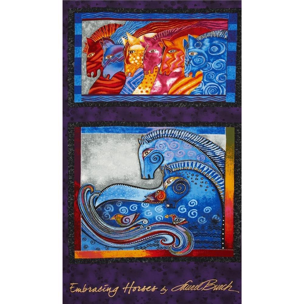 Embracing Horses Metallic Panel `