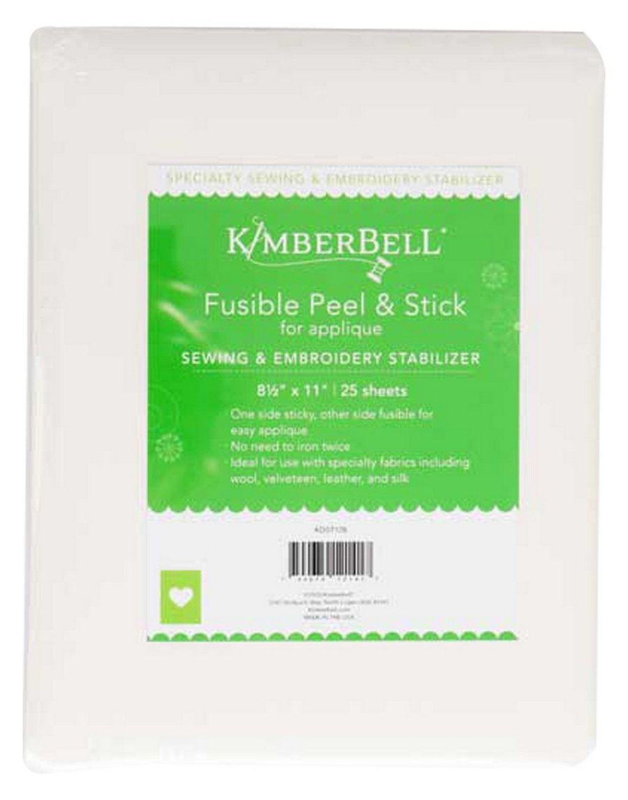 Kimberbell KDST128 Fusible Backing 8.5in x 11in 25pk