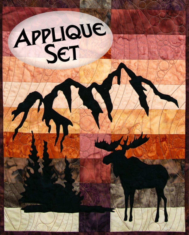 Wildwood Moose Applique Set Northern Threads +