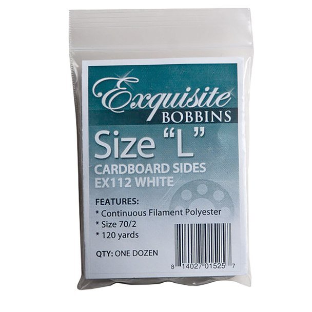 Dime Exquisite Bobbin Thread L 110yd Wht 12ct `