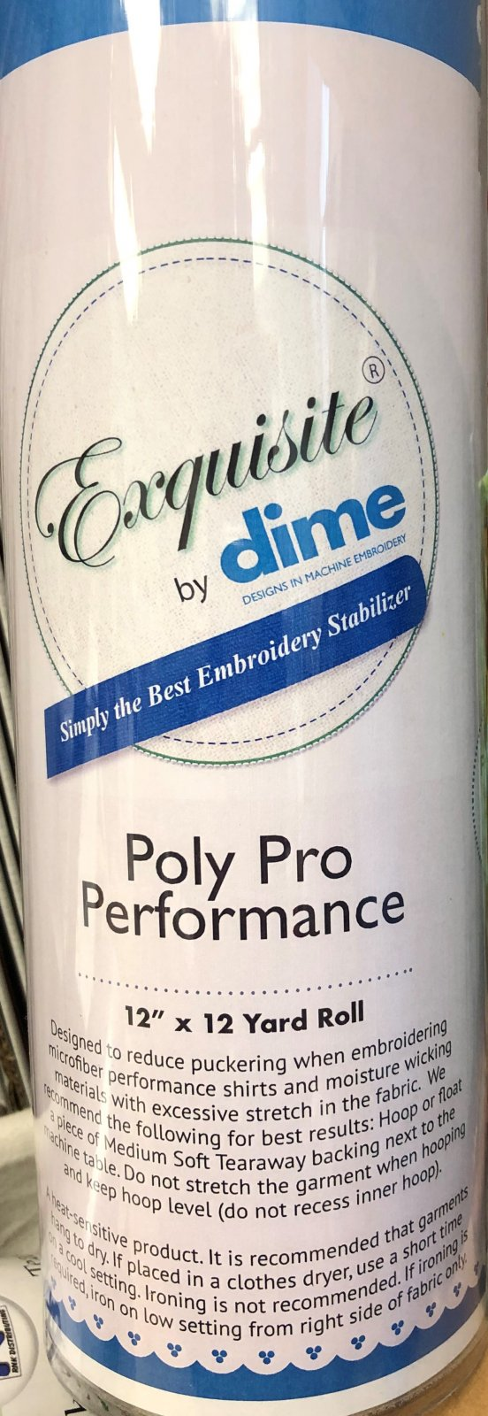 Dime Exquisite PolyPro Performance 12 x 12Yd Roll `
