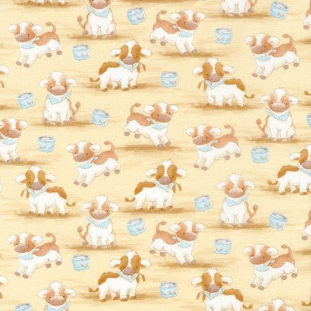 Timeless Treasures Cotton Tail Farm Cows C5820 `