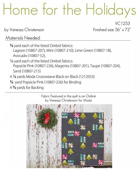 Home For The Holidays Quilting Pattern VC1253 `