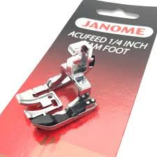 Janome AcuFeed 1/4 Inch Seam Foot 202031002 `