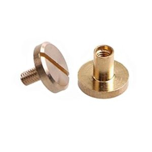 Chicago Screws Brass 5mm Shank & 8mm Diameter 2pk `