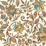 Quilting Treasures Kashmir 1649-27398-E Large Floral Cream `