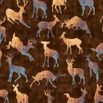 Quilting Treasures Timberland Trail Animal Silhouetts Brown 1649-26807-A `
