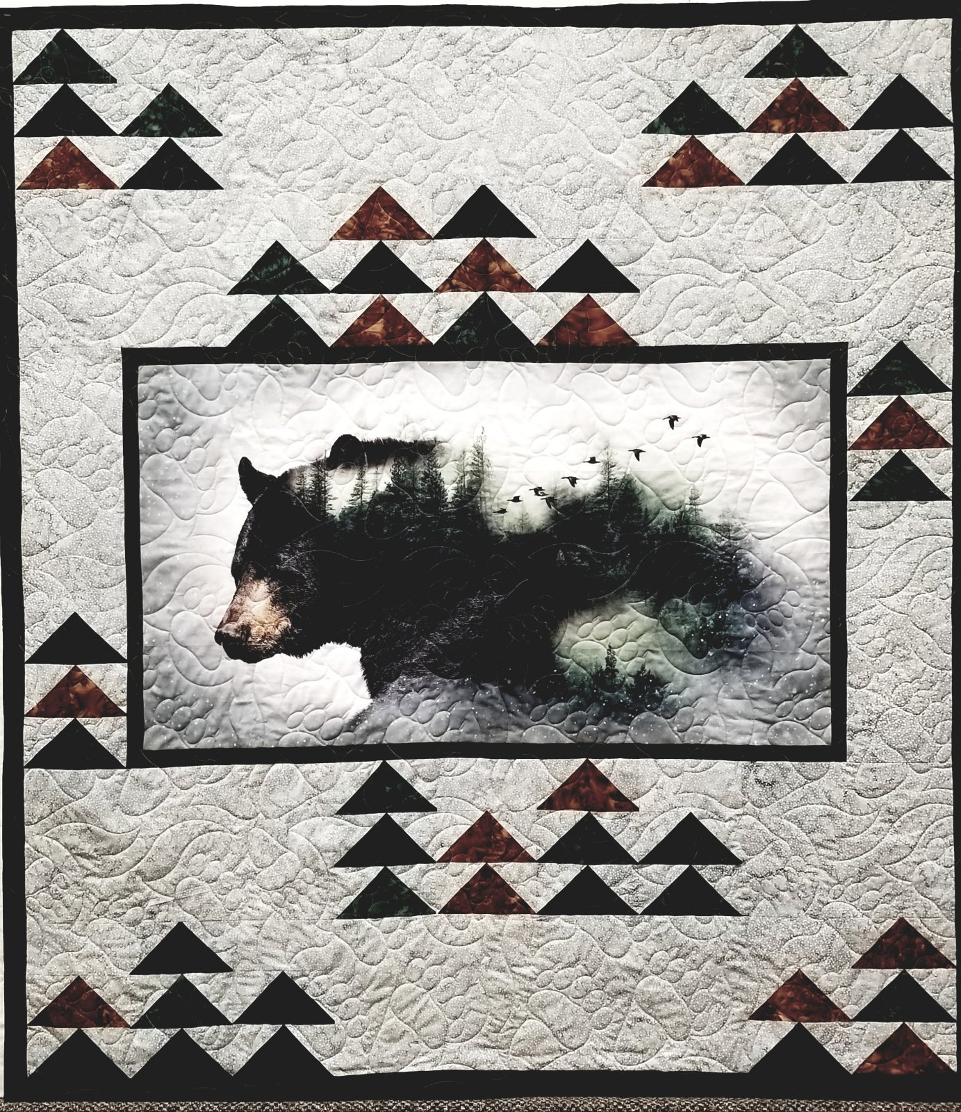 Hoffman Fabric Call of the Wild Quilt Bear P4356-44 `