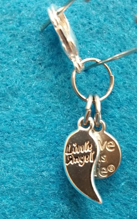 Little Angel Charm with Lobster Claw - Silver`