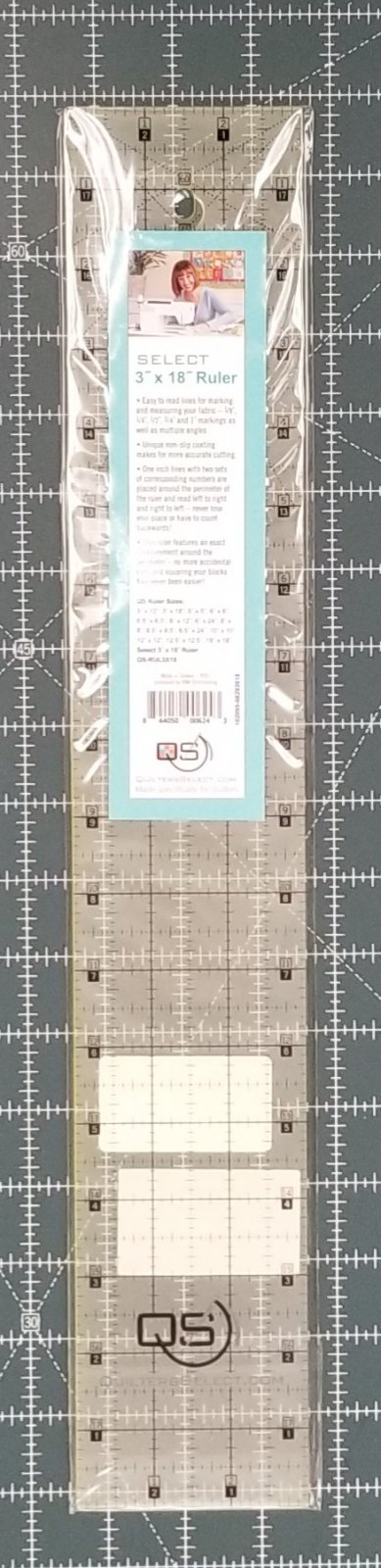 Quilters Select Rulers - 3 x 18
