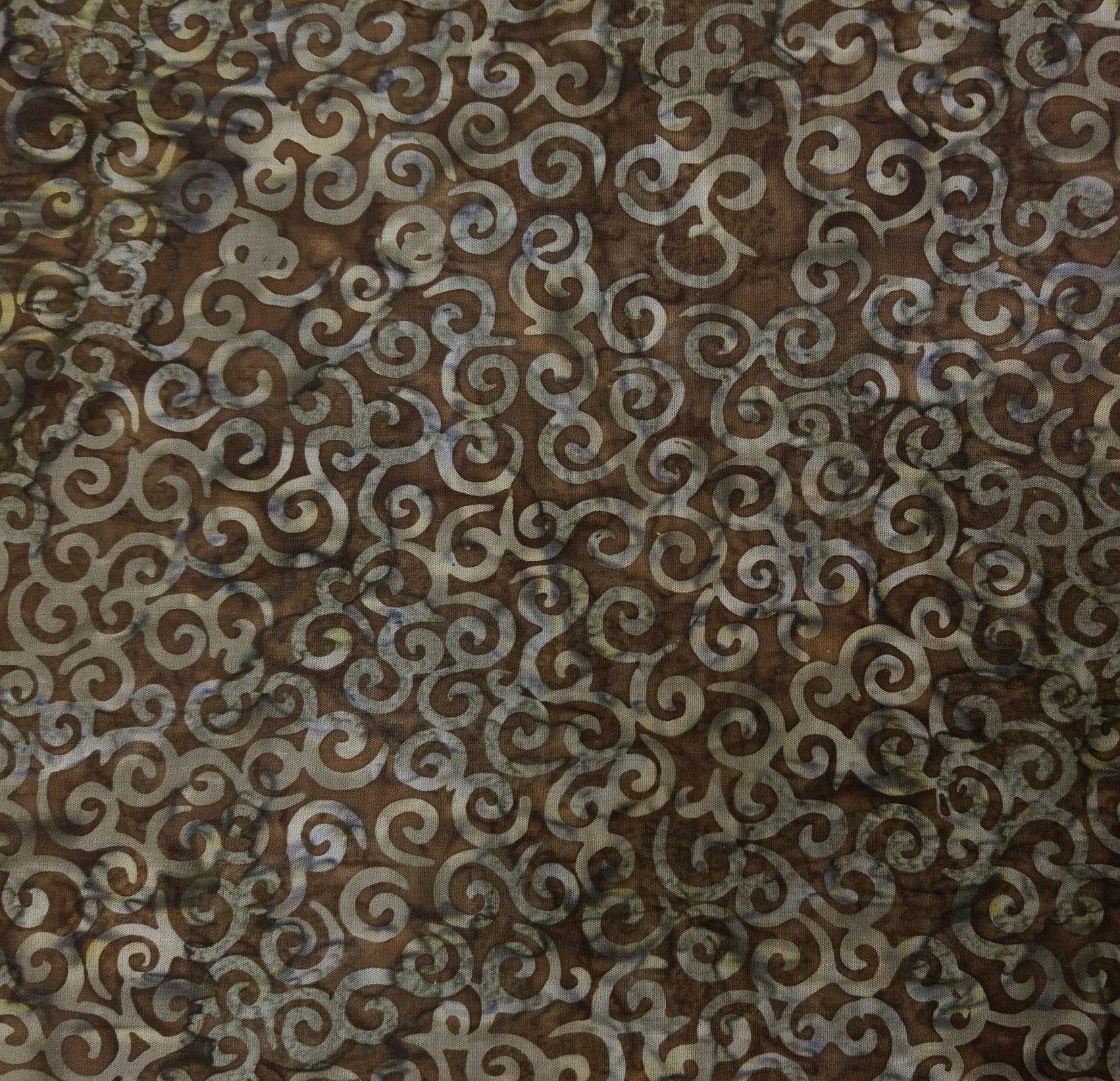 Batik Tonga B2266 Mud Timeless Treasures `
