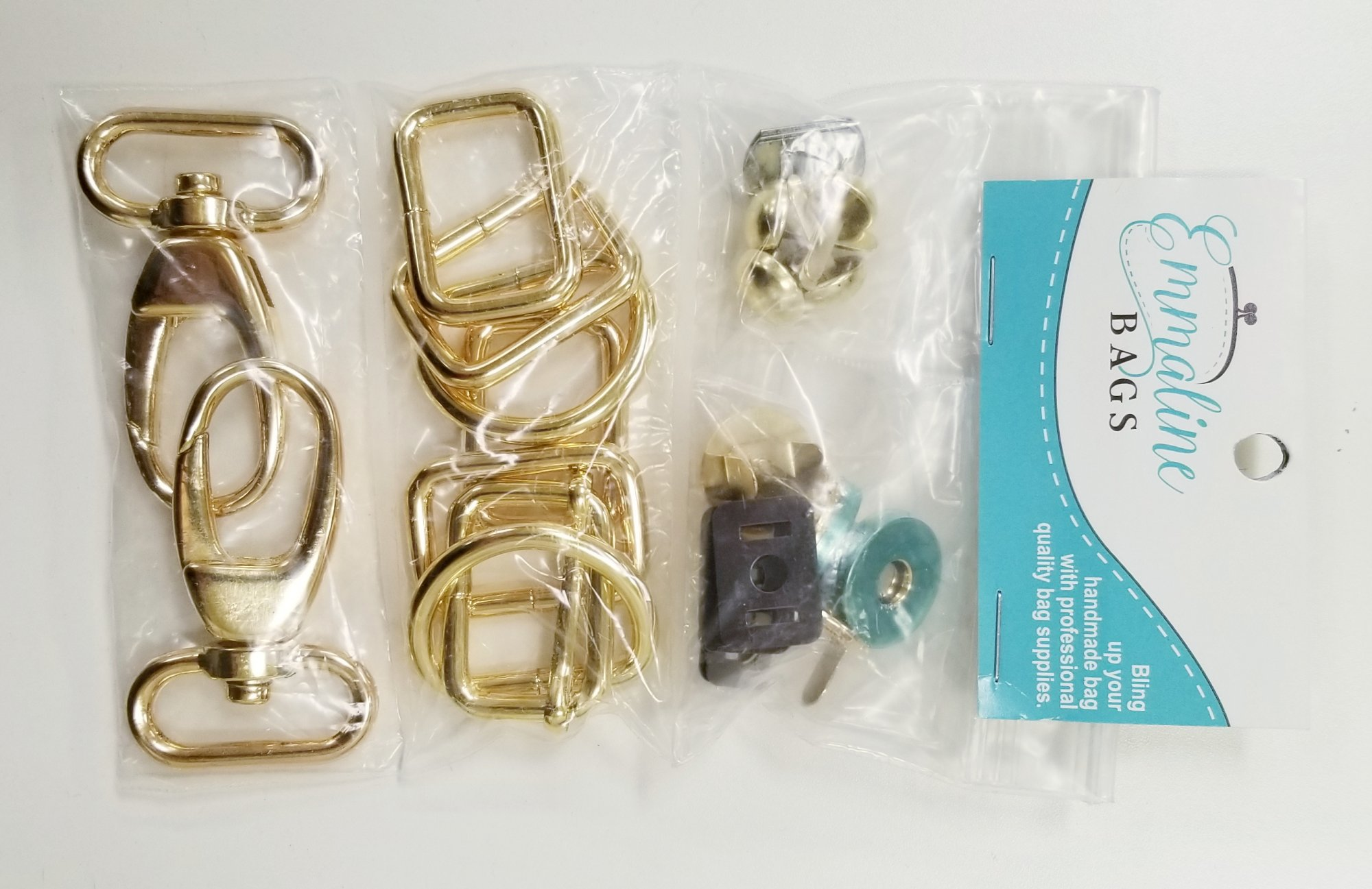 Emmaline Bags The Aster Handbag Hardware Kit Gold `