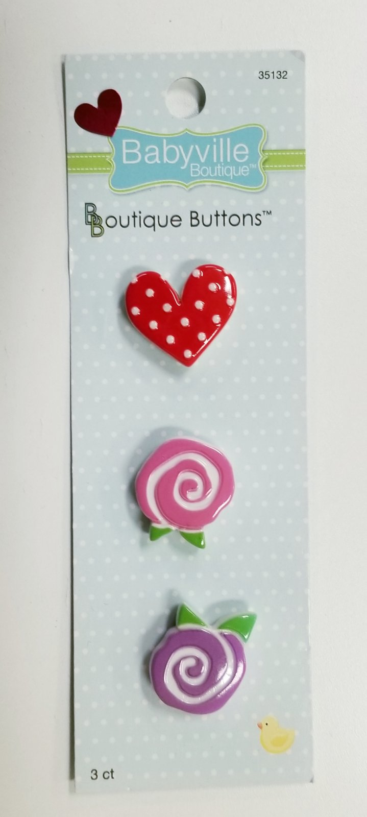 Sweet Girl Buttons by Babyville Boutique `