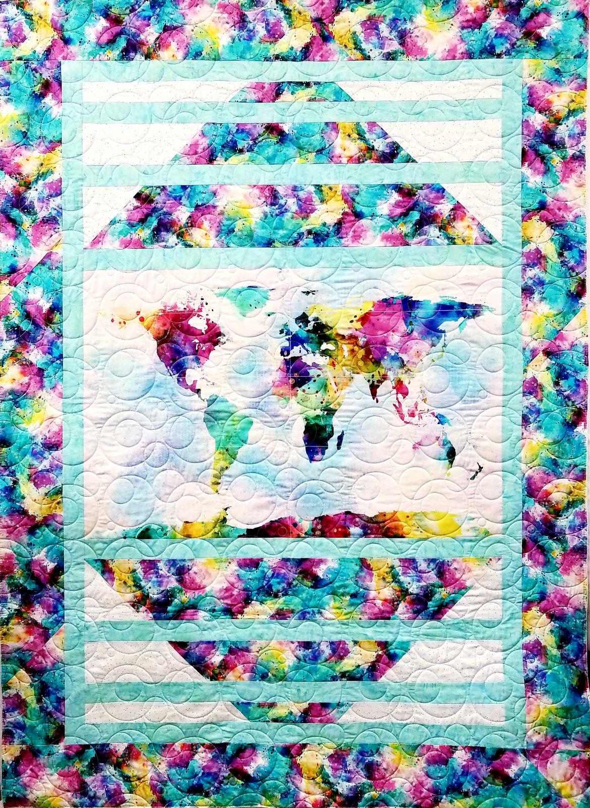 Hoffman Fabrics R4572-58-Earth Globe Hopper `